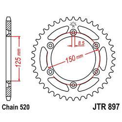 JT Zębatka tył 50z 520 stalowa do KTM-5604